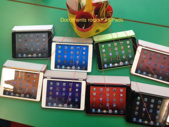 8iPads being modelled at St Stephens Primary school in Blackburn UK